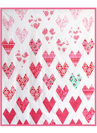 """Lots of Love Quilt by Tamara Kate  / 56x68"""""""