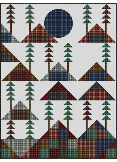 "Mountain Lodge by Charisma Horton /54""x72"" (fat quarter Friendly)"