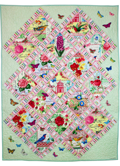 Menagerie Lattice Quilt by Marinda Stewart
