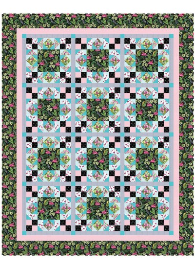 """Midday at the Oasis Quilt by Heidi Pridemore / 68""""x85.5"""""""