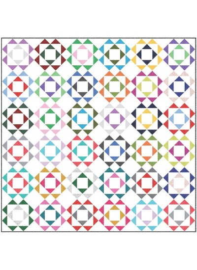 "Mod Flowers Quilt by heidi Pridemore /54""x54"""