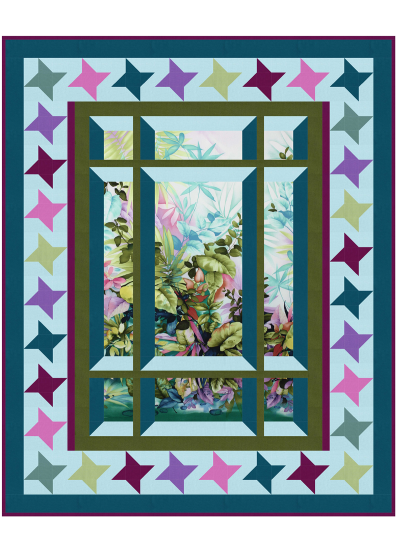 Modern Window 2 with Star Border by Barb Sackel