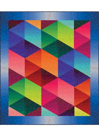 "Ombre Sashay Quintessentials Quilt by Susan Emory /60""x68"""