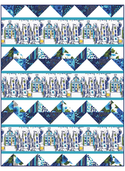 """On the Town Quilt by Heidi Pridemore  / 50x66"""""""