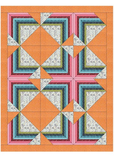 "Optimistic Quilt by Sandra Clemons /62""x80"""