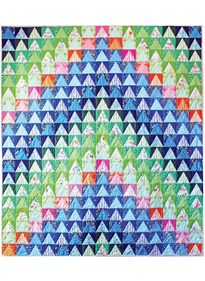 """Over the Mountain Quilt by Tamara Kate /71""""x81""""- Instructions Coming Soon"""