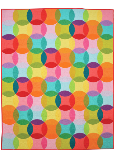 """Over the Rainbow Quilt by Emily Herrick / 56x70"""""""