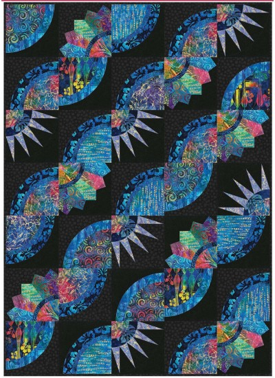 "Patchouli Quilt by Christine Stainbrook /45""x63"""