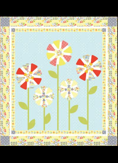 Petal Pinwheels Quilt by Heidi Pridemore