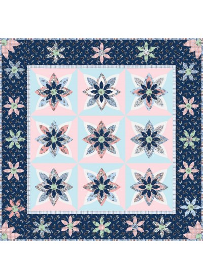 """Beautiful Blooms Petite Garden Quilt by Cabin in the Woods - 63""""x63"""""""