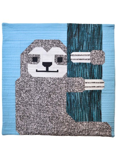 Sleepy Sloth Pillow by Elizabeth Hartman