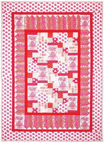 "Pineapple Express Quilt by Marinda Stewart /40""x56"""