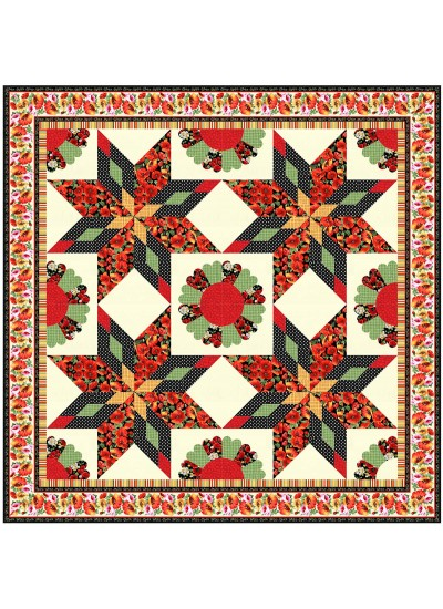 "Poppi Dance Quilt by Christine Stainbrook /89""x89"" - Instructions Coming Soon"