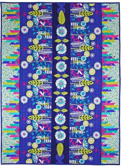 """Posey Aplenty Quilt by Marinda Stewart   /52.5"""" x55.5"""""""