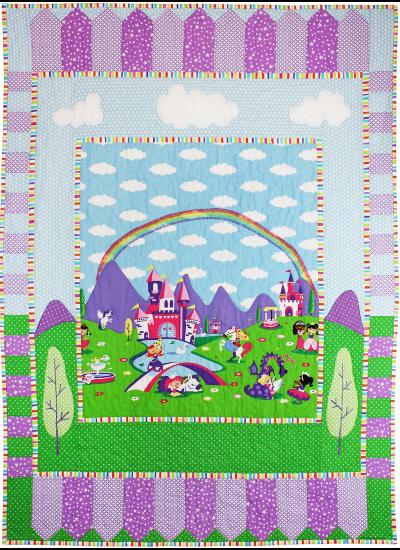 "Princess Charming Quilt by Marinda Stewart  / 36.5x53"""