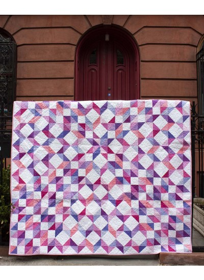 "Purple Rain Quilt & Pillow Sham by Marsha Evans Moore /66""x78"""