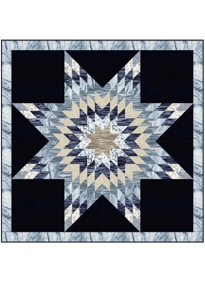 "Celestial Star Quilt by Wendy Sheppard /53""x53"""