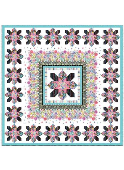 "Les Jardins Quilt by Heidi Pridemore /75""x75"""