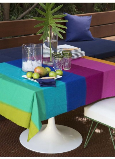 Rainbow Batik Table Cover