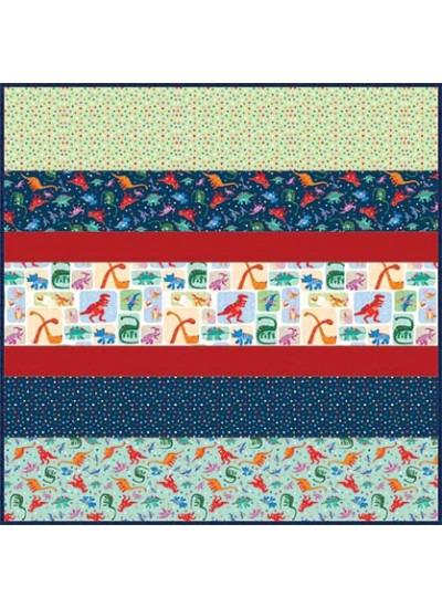 Rainbow Dino MINKY Strip Quilt