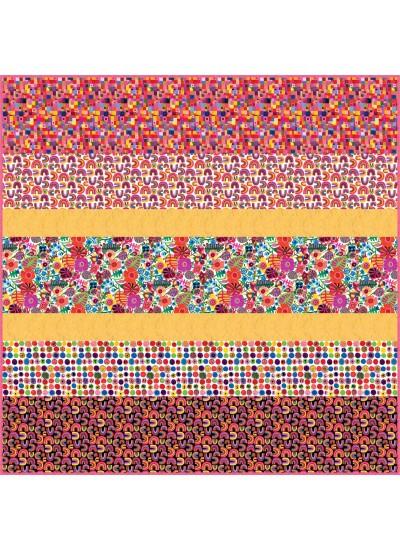 Rainbows and Sunshine MINKY Strip Quilt