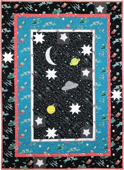 """Retro Rockets Quilt by Marinda Stewart /40""""x56"""""""