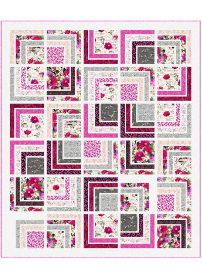 "Romantic Pathways Quilt by Wendy Sheppard /70""x83"""