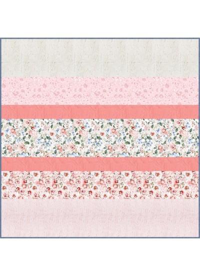 Rosy MINKY Strip Quilt