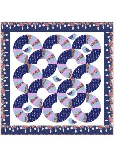 """round Robin Quilt by Natalie Crabtree /76""""x76"""""""