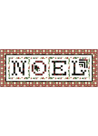 "Happy Holly-Days Table Runner by Wendy Sheppard /66""x82"""