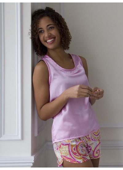 Satin Pajama shorts and Tank Top