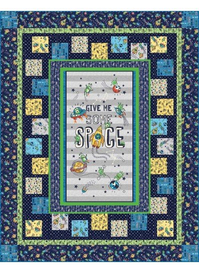 "Give Me Some Space Quilt by Heidi Pridemore /60""x76"""