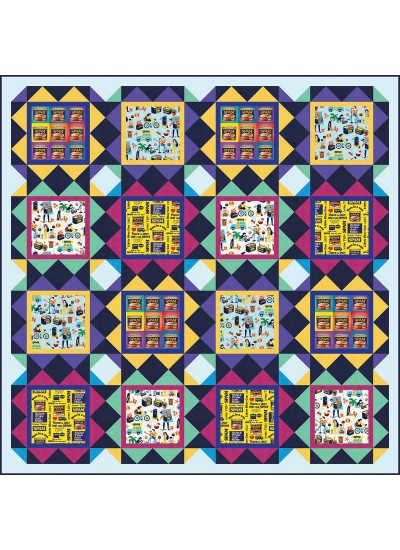 "Spam Quilt by Heidi Pridemore /63""x63"""