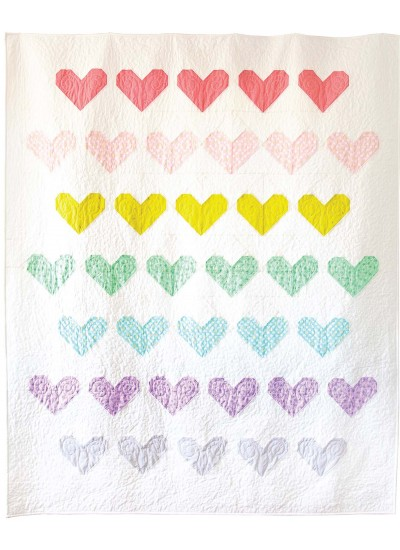 Spread Love Quilt by Sandra Clemons /73-7/8x88-1/2""