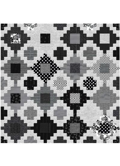 "Stacked Quilt by Jessica Vandenbargh /72""x72"""