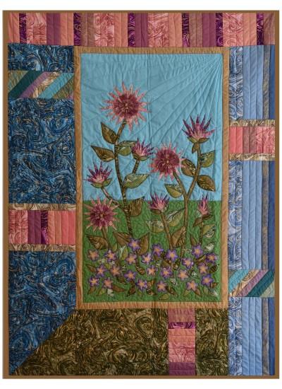 """Stardust Gradens Quilt by Marinda Stewart /40""""x54"""""""
