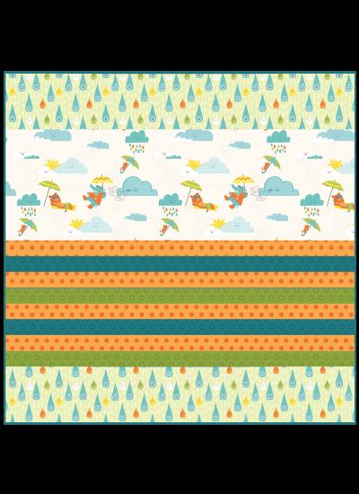 "Sunny Day - Strip Quilt /58""x58"""