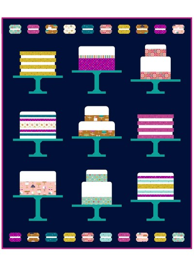 Sweet Cakes by patty Sloniger / 63x77""
