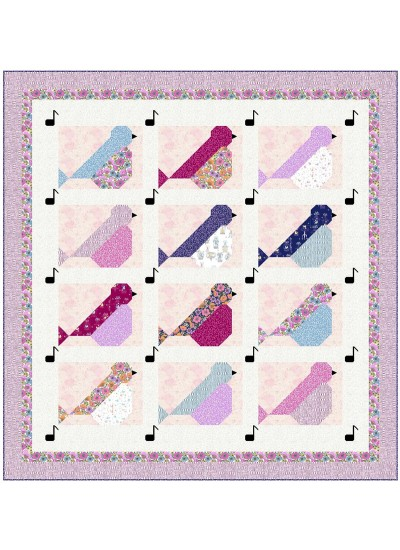 """Sweet Song QUilt by Wendy Sheppard /74.5""""77.5"""" - Instructions Coming Soon"""