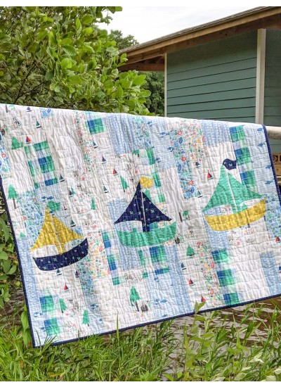 """Swimming in Circles Quilt by Swirly Girls Design /42""""x54"""""""