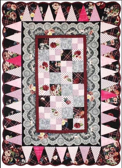 Tartan Rose Border Quilt by Marinda Stewart