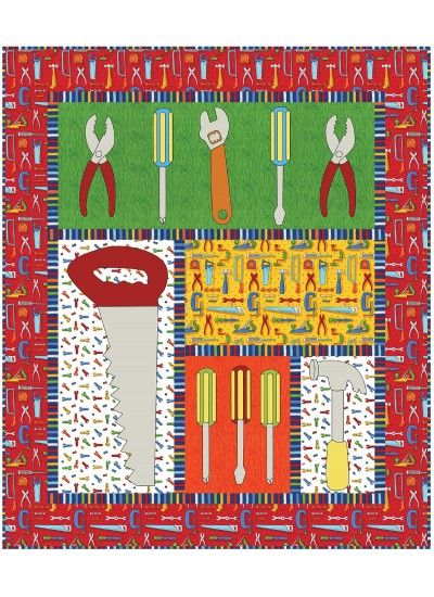 Tools of the Trade Quilt by Heidi Pridemore /40x47""