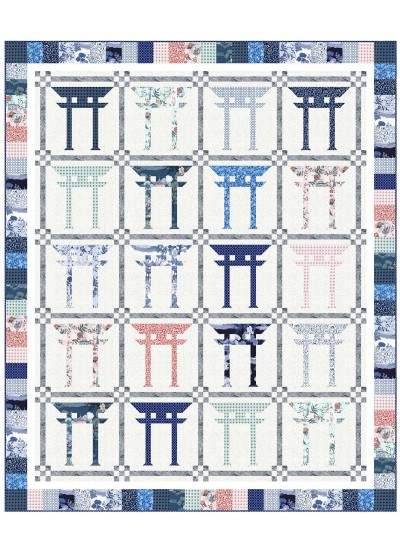 """Torii Quilt by Wendy Sheppard /74""""x89"""" - Instructions Coming Soon"""