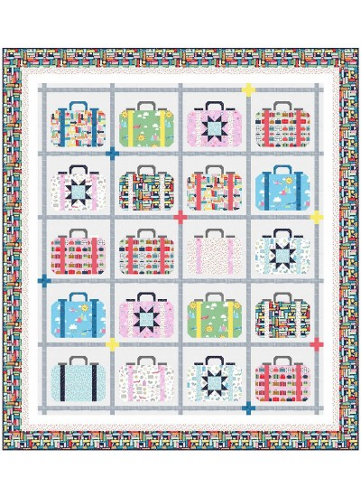 "Travel Daze Quilt by Wendy Sheppard /78""x88"""