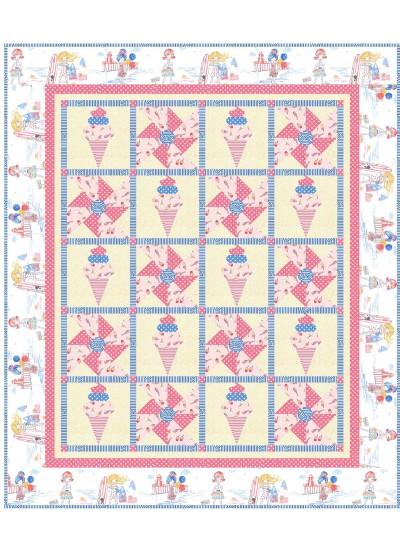 "triple Scoop Quilt by Natalie Crabtree /62""x73"""