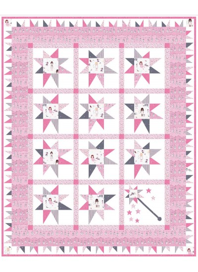"Twinkle Fairies Quilt by Marsha Evans Moore /48""x59"""