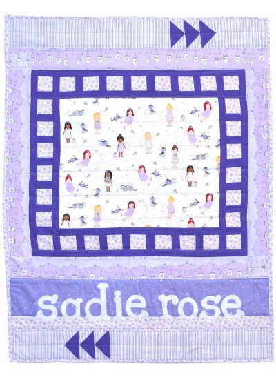 "Lullaby Lane Quilt - Twinkle Fairies by Sassafras Lane Designs /34""x46"""