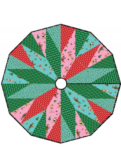 "Over Under Tree Skirt by Swirly Girls Disign 48"" Diameter"
