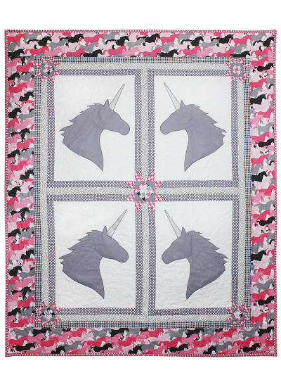Unicorns Quilt by Marinda Stewart