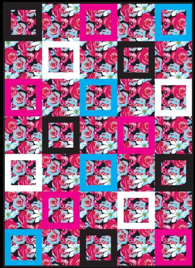Urban Bouquet Quilt by Emily Herrick